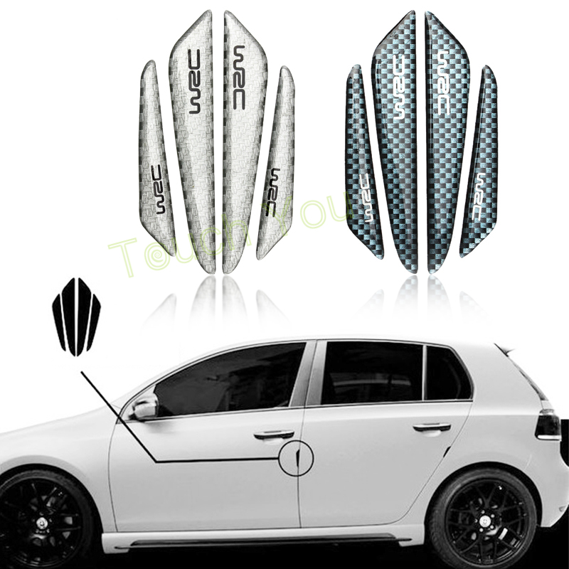 Car Sticker Door Protector Door Side Edge Protection Guards Stickers For Universal Car Carbon Fiber Accessories Auto Stickers 2016 mini clubman one coopers side door power window switch center console panel covers accessories car stickers for f54 6 door page 7