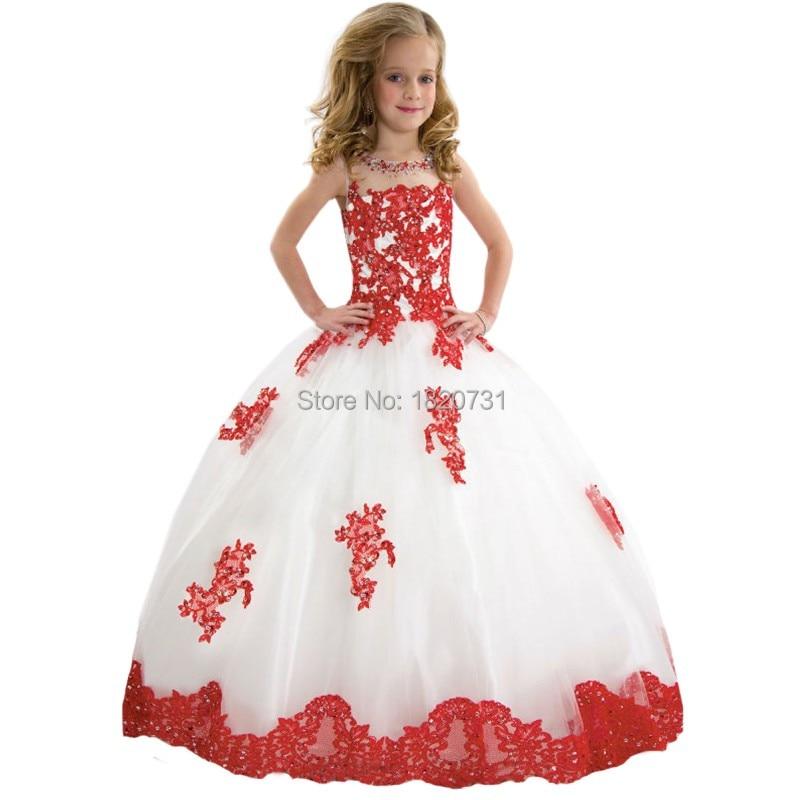 Stunning Little   Girl   Pageant   Dresses   Tulle   Flower   Tutu Vestidos 2019 Adorable   Flower     Girl     Dress   Infant Child Birthday   Dress