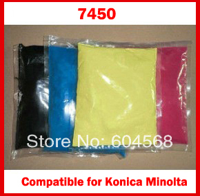 Pó de toner de cor compatível para Konica Minolta magicolor 7450