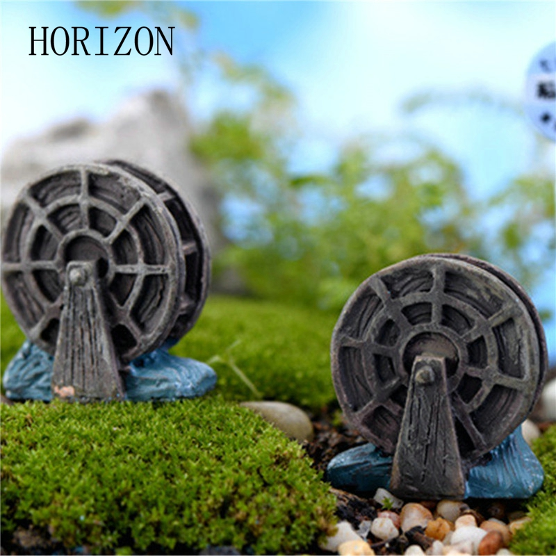 2 Pcs/lot Mini Vintage Waterwheel Miniature Fairy Garden Home Decoration  Houses Craft Micro Landscaping Decor DIY Gift In Figurines U0026 Miniatures  From Home ...