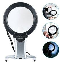 Hands Free светодиодный Лупа с подсветкой для чтения, лупа для шеи, качественное увеличительное стекло для пожилых людей, вышивка крестиком