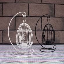 Beautiful Birdcage Iron Candlestick Decorative Tealight Metal Candle Holders Creative Wedding Products Gifts Sconce(China)