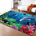 3D Океанский мир Акула коврик с эффектом памяти нескользящий коврик фланелевые ковры для гостиной спальни детская тема украшение для комнат...