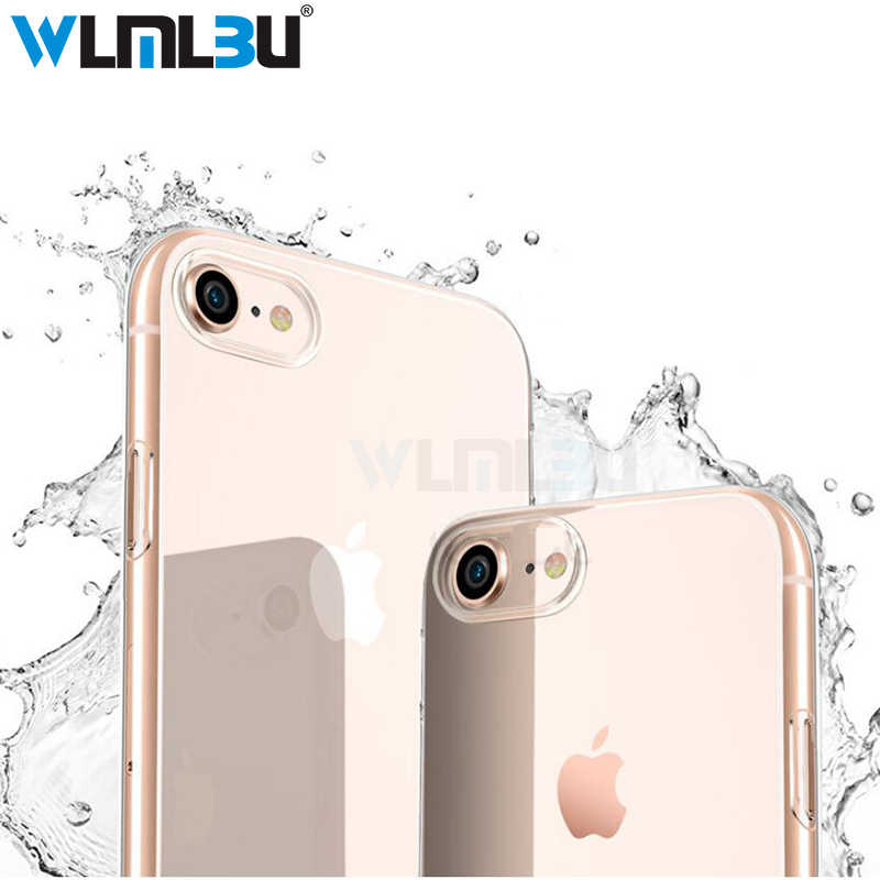 WLMLBU Ultra Dunne Zachte transparante TPU Case Voor iPhone 6 6 s 7 8 Plus clear silicone Cover Case Voor iPhone 7 5 5 s Telefoon Bag Case