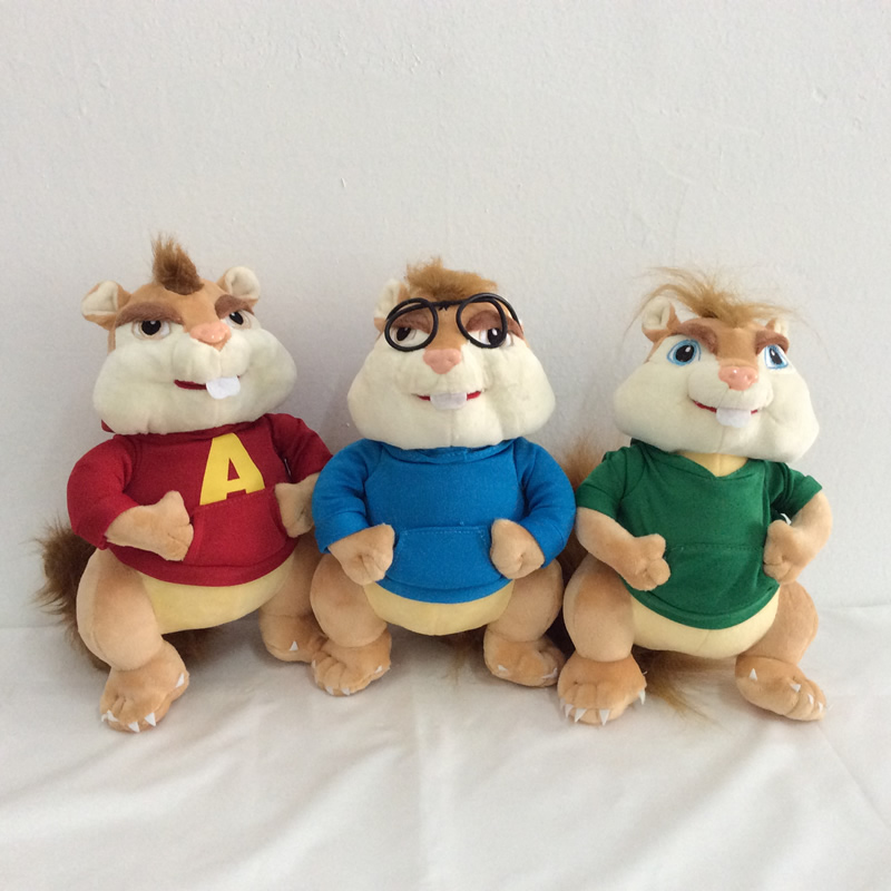 Free Shipping Alvin And The Chipmunks Plush Toys 25cm 9 8 Alvin Simon And Theodore Soft Kids Doll For Children Gift Buy At The Price Of 10 75 In Aliexpress Com Imall Com