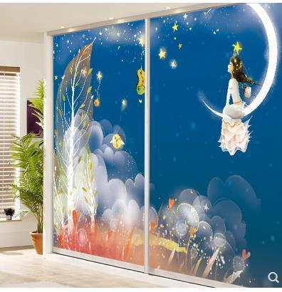 Fantasy Star Window Sticker Balcony Sill Bedroom Light Translucent Bathroom Living Room Bathroom Glass Sticker-43
