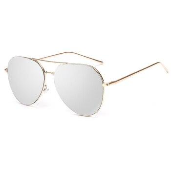 VictoryLip 2017 Fashion Rose Gold Brand Designer Ladies Sunglasses Women Men Piolt mirror Metal Frame Sun Glasses aviation 4