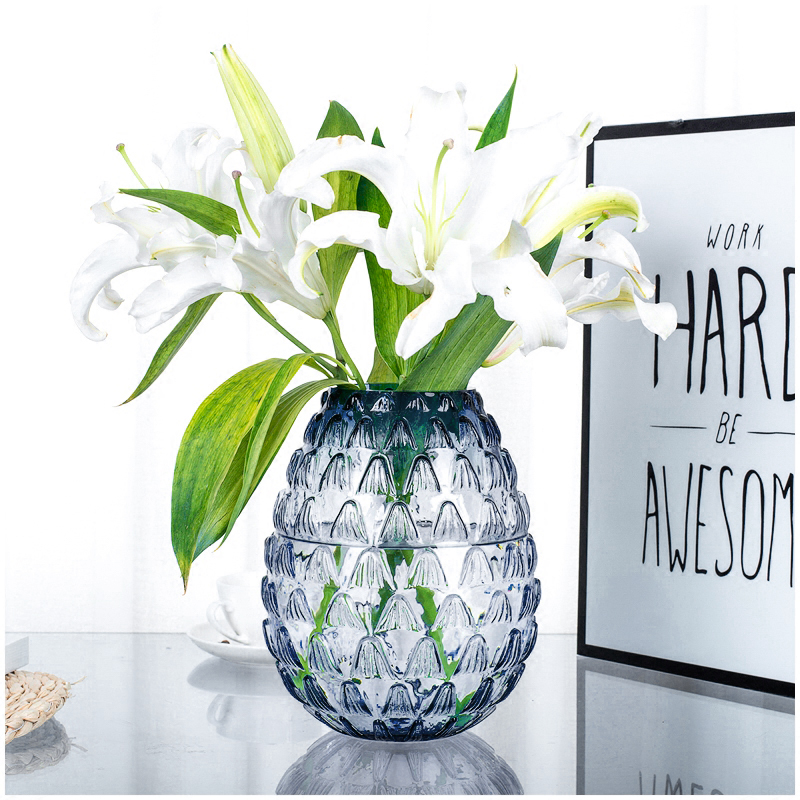 Lotus Pattern Stained Glass Vase Hydroponic Glass Terrarium Small Flower Vases For Homes Decoration Accessories Modern Living Vases Aliexpress