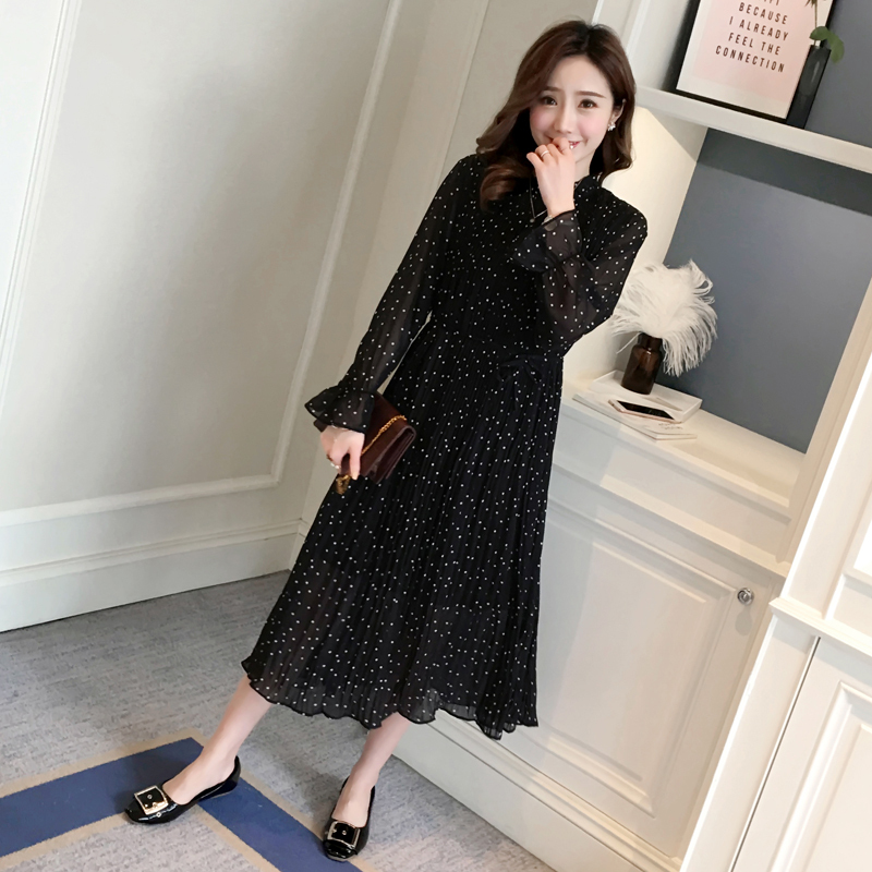 Casual Maternity Clothes Lace Pregnancy Dress Autumn Fashion Maternity Clothing Of Pregnant Women Long Sleeve Vestidos