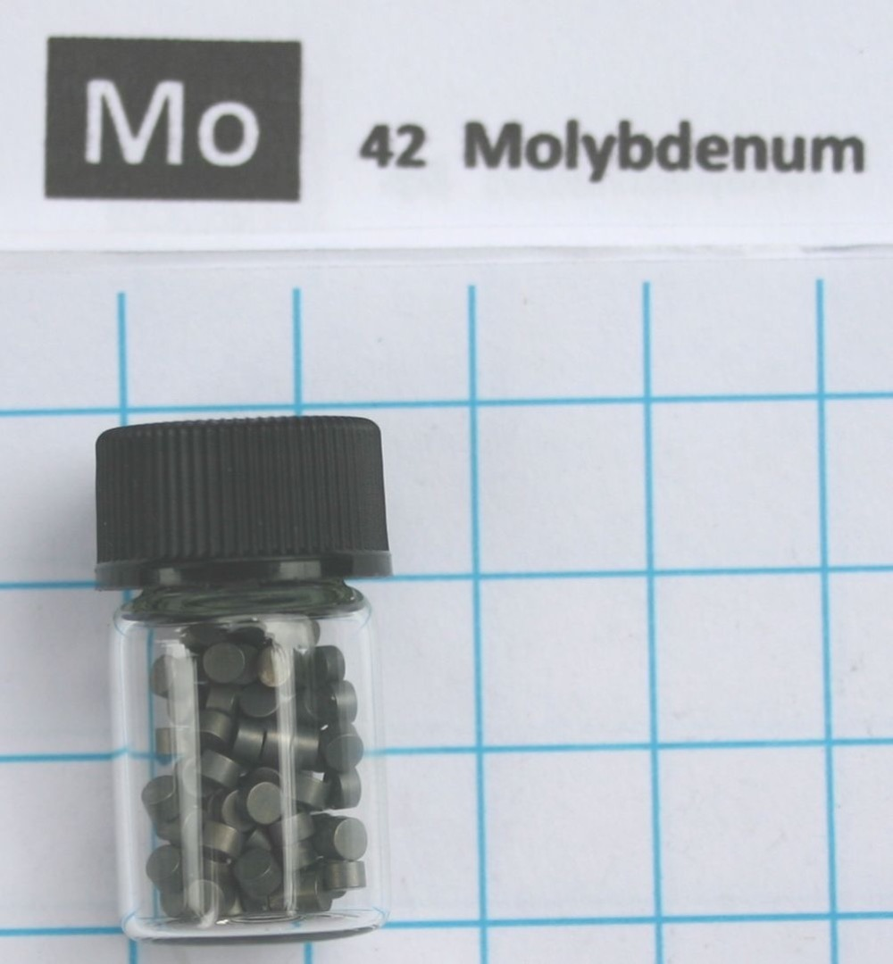 Molybdenum metal element 42 Mo pellets 5 grams 99,99% in glass vial a4tech bloody g310
