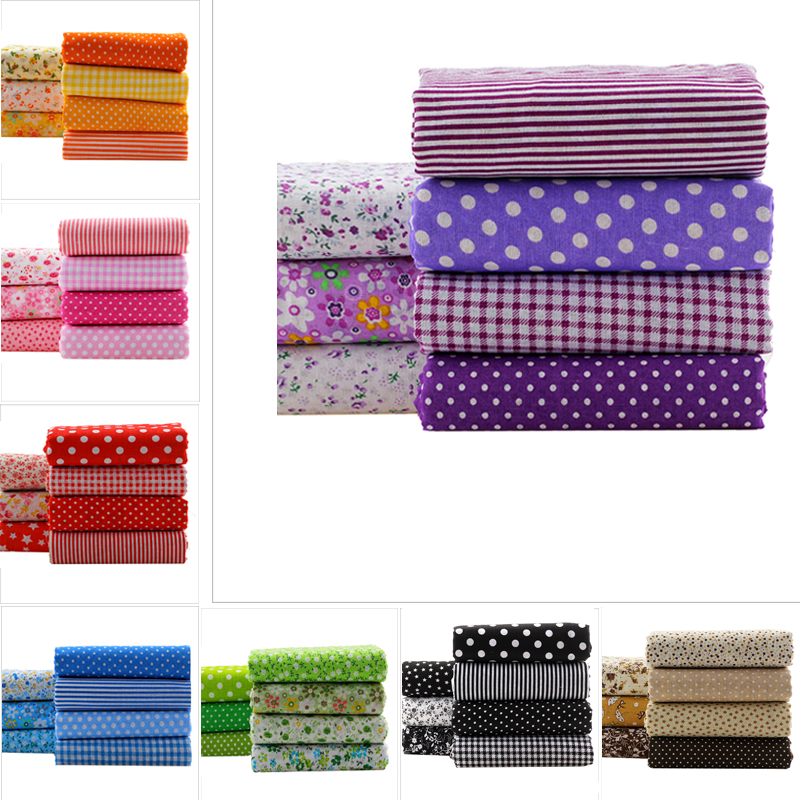 56PCS Lot Colorful Floral Knit Fabric Bundles DIY Cotton Patchwork Fabrics For Sewing Toy Baby Cloth