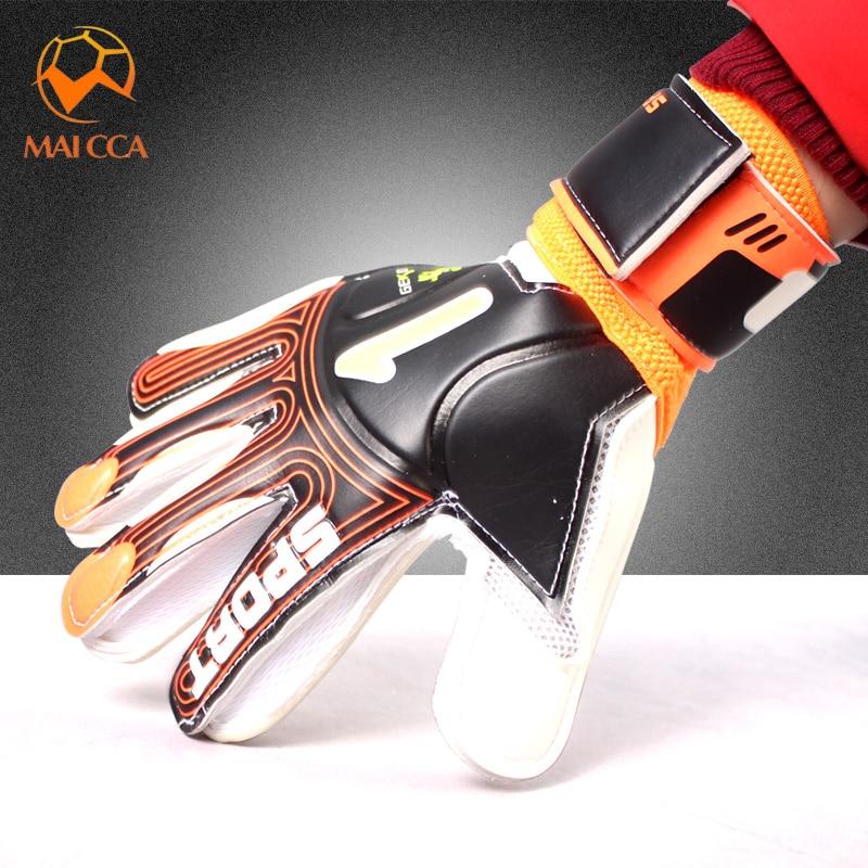 Professionale guanti Da Portiere di Calcio 4mm di Spessore Anziano Lattice Calcio Portiere Dito Doppia Protezione