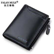 Мул falan монет деньги натуральной карманный бумажник кошельки качества кожи кошелек
