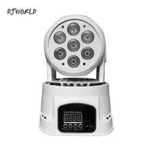 عالية الجودة LED صغيرة تتحرك رئيس غسل ضوء 7X12W RGBW 4in1 تتحرك رؤساء DMX ضوء المرحلة مصطربة DJ ملهى ليلي حفلة موسيقية