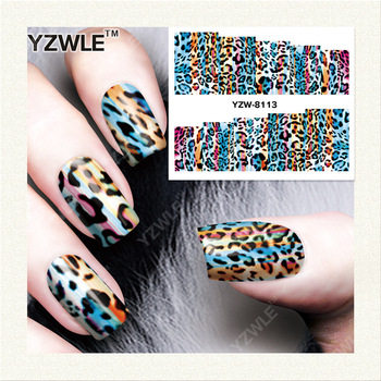 YZWLE 1 Sheet DIY Decals Nails Art Water Transfer Printing Stickers Accessories For Manicure Salon YZW-8113
