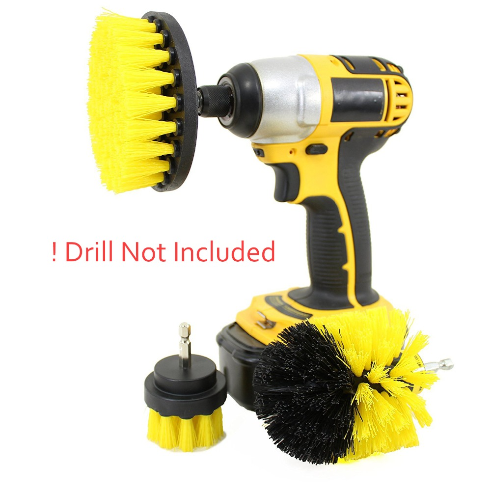 Power Scrubber Drill Brush Set for Cleaning | Rotating Drill Brush Scrub Bathroom Cordless Drill Attachment Cleaning Kit