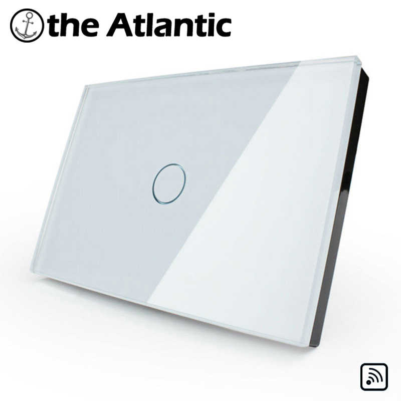 Remote Control Glass Panel  Wall Switch, US/AU Standard, Light Home 1 Gang 1 Way , Remotely Controlled