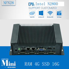 x86 embedded mini box pc with N2800 with RAM 4G SSD 16G