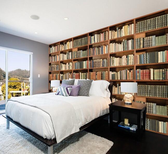спальня с книжным шкафом фото она