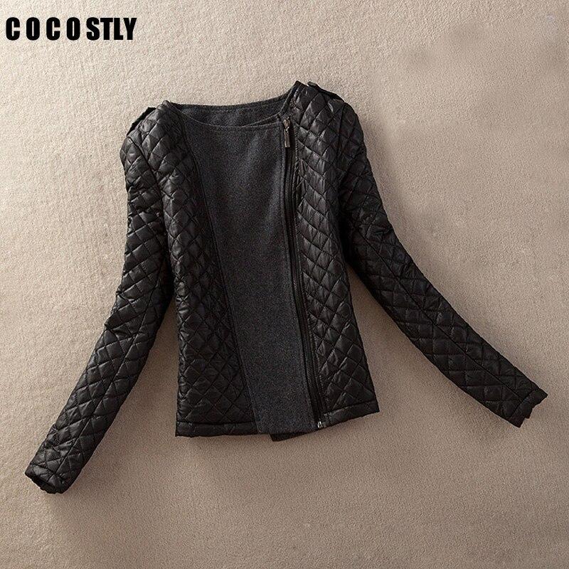 High Quality Autumn 2017 Parkas   basic     jackets   Female Women Winter Coats Cotton Zipper Argyle Winter   Jacket   Womens Outwear coat