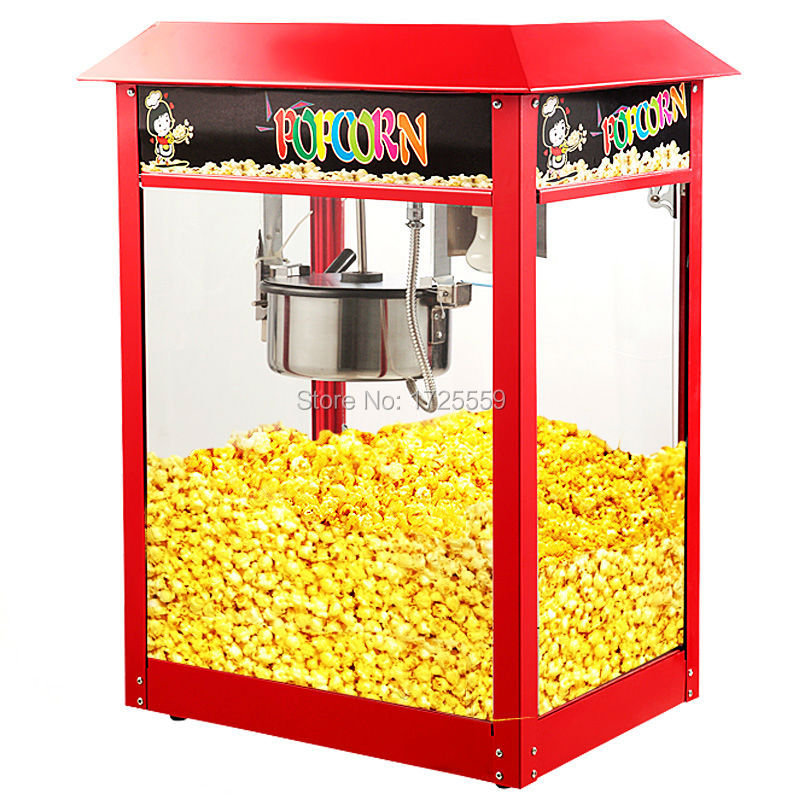 Automatic Electric Popcorn Machine Table Top Corn Popper Cooker