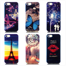 Cases For iPhone SE 5S Soft With Blue Light Super Slim TPU Gel Silicon Phone Case For Apple iPhone 5 5S 5G Back Cover Bags