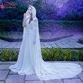 Longo elegante do Laço de casamento Wraps Lace marfim jaqueta de casamento bolero casaco de noiva do casamento do inverno manto rendas boleros Z526