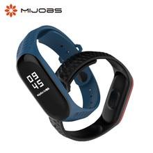 Mijobs Mi Band 3 Strap Silicone Aurora Sport for Xiaomi Bracelet Correa MiBand Wristbands Replace Wrist