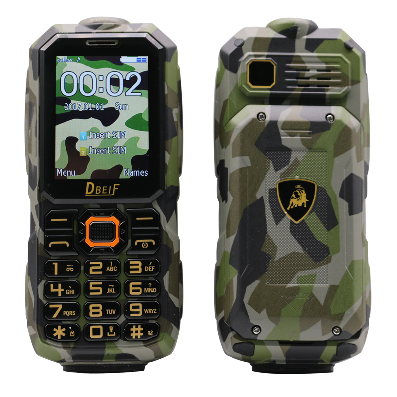 Shockproof Waterproof Dual Sim Long Standby Flashlight Power Bank Magic Voice Rugged Outdoor Senior Mobile Cell Phone P141