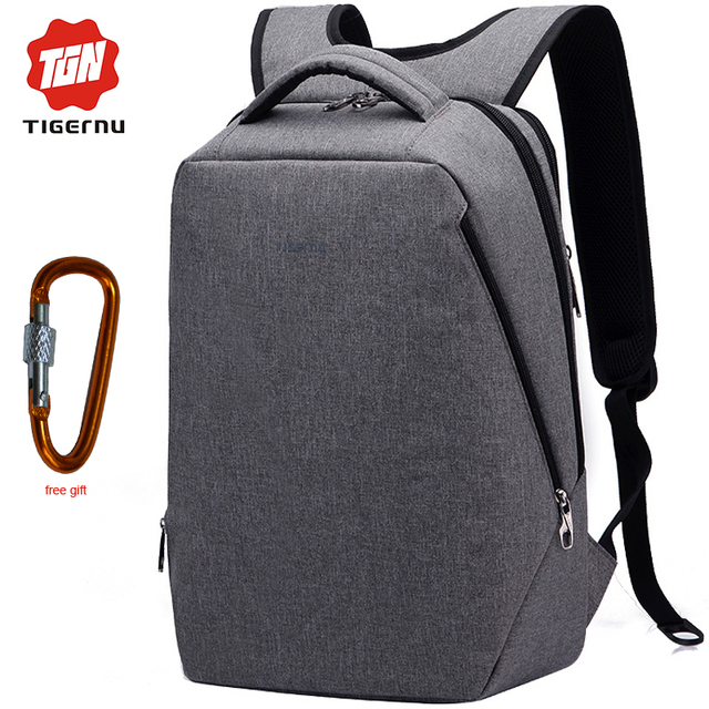 """Carregamento usb tigernu mochila moda mochila laptop 17 """"femenina sacos de escola mochila de viagem bolsa masculina frete grátis"""