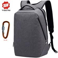 USB Charging mochila Tigernu Fashion Laptop Backpack 17 femenina School Bags Backpack Travel bolsa masculina free