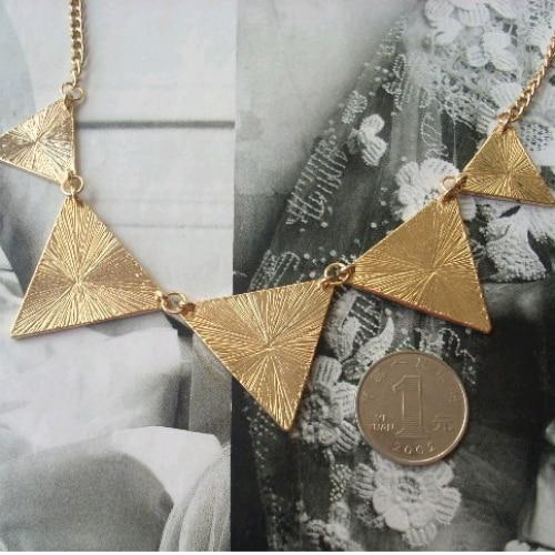 Collar de triángulo geométrico negro caliente Collar de gargantilla - Bisutería - foto 5