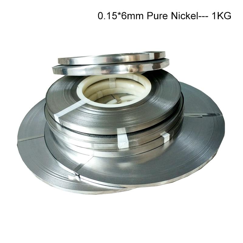 1.0kg 0.15*6mm Pure Nickel Strip 99.96% Battery Pure Nickel Ribbon Battery Connector Spot Welding 18650 Battery Pure Nickel Belt