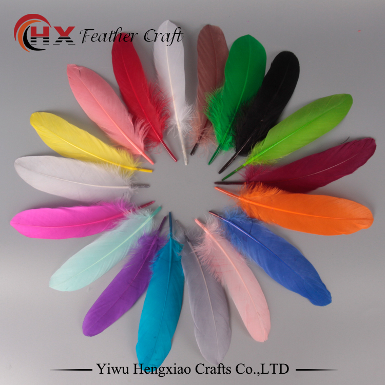 Good Quality Feather 50pcs/lot Natural White Goose Feathers 15-20cm Decoration Wedding DIY Colorful Feather Material Accessories