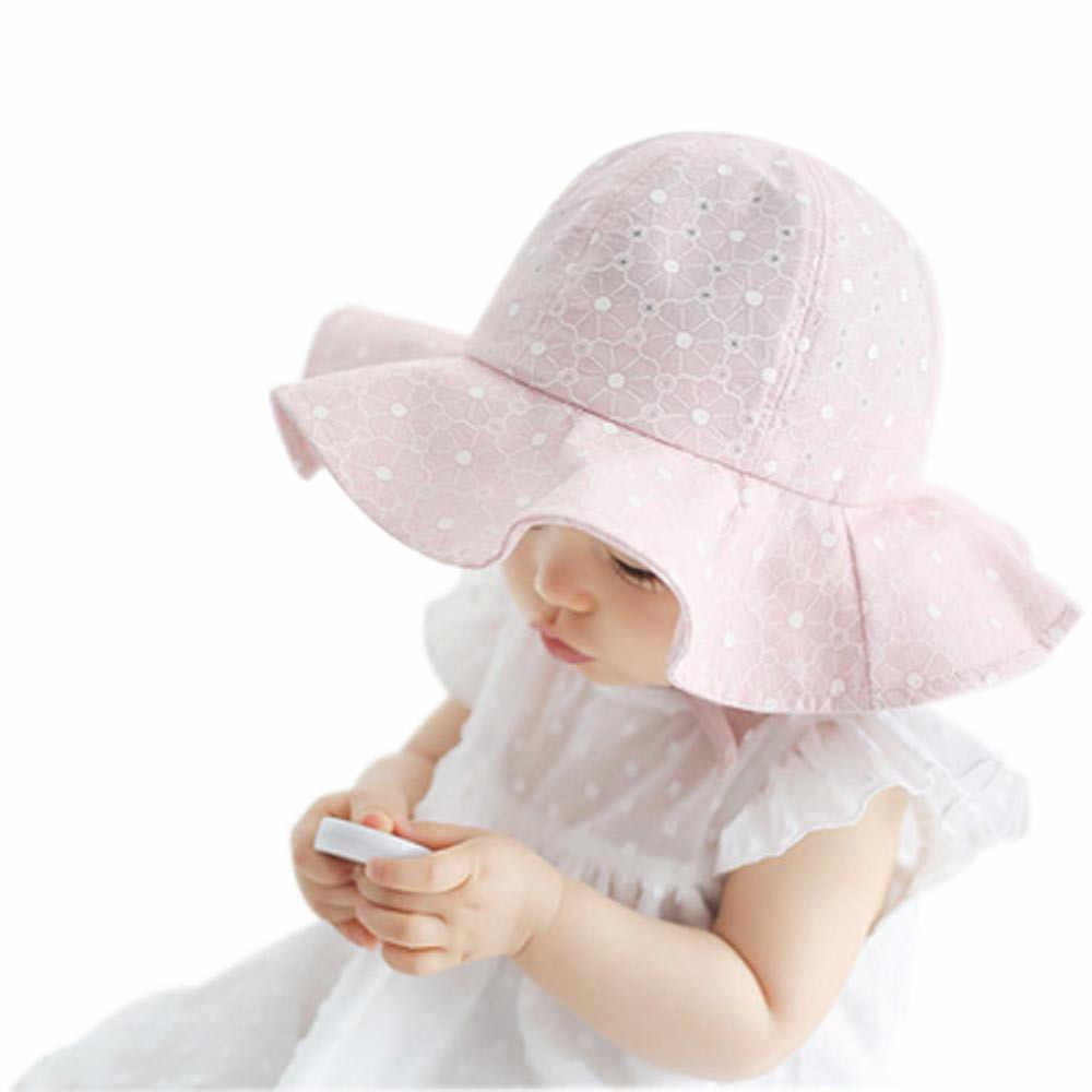 8e99662c55c993 ... Summer Beach Baby Hat Fashion And Beautiful Baby Girl Cap Dot Toddler  Hats Shade Caps Girl ...