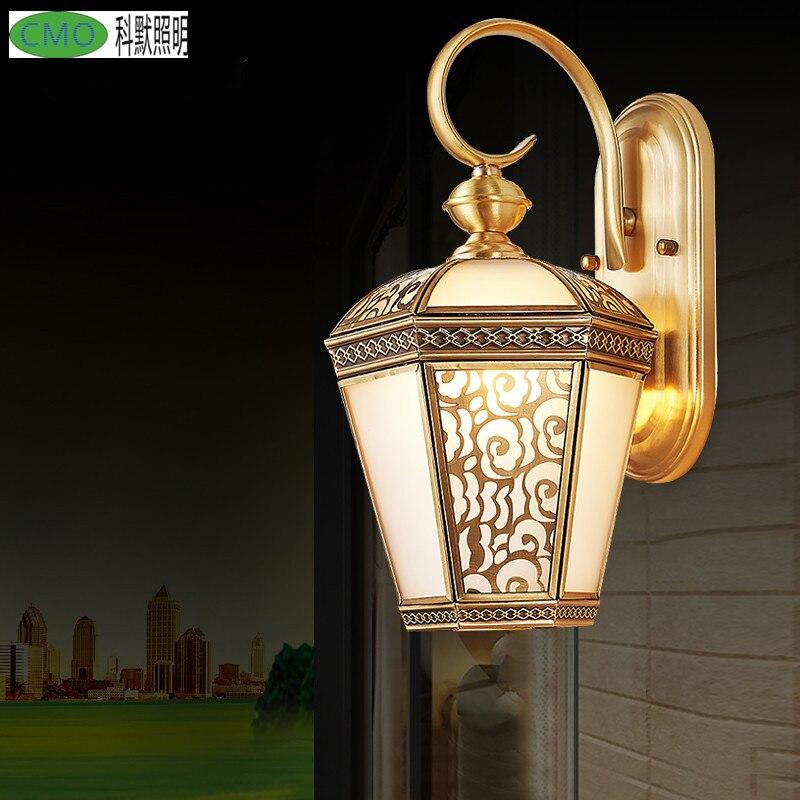 2017 Mode Kupfer Wandleuchte Balkon Lampe Led Beleuchtung Lampe