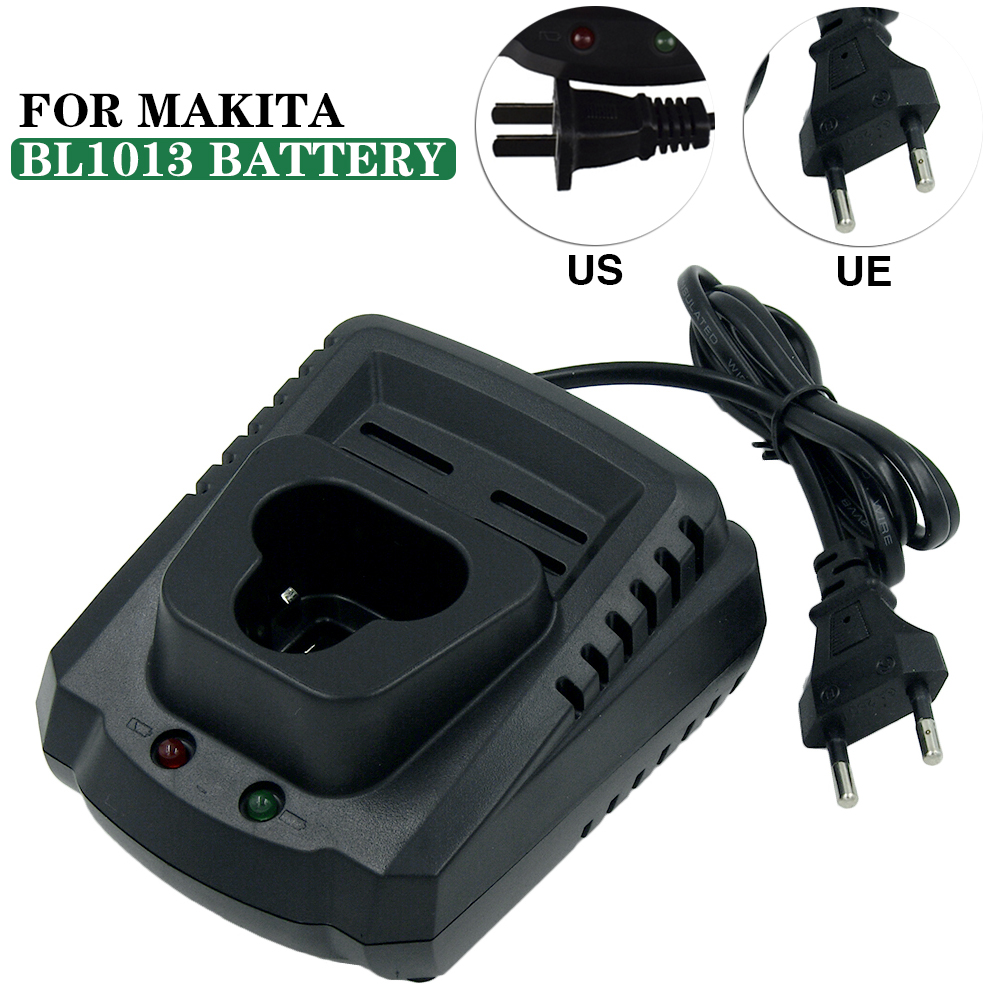 AC110-240V DC10WA Lithium-ion Replacement Charger for Makita Cordless Tools Battery BL1013 BL1014 10.8V EU Plug & US Plug