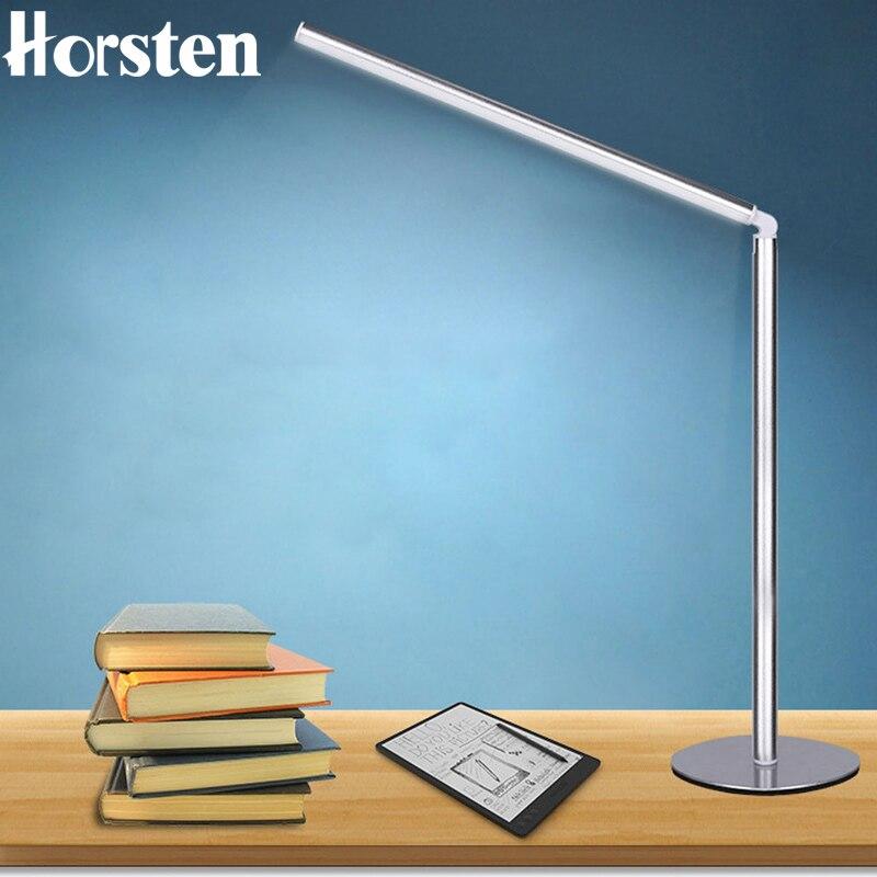Horsten USB Charging Modern LED Table Lamp Aluminum Student Reading Desk Lamp USB Power Work With ALL of DC 5V Adapter Laptop PC