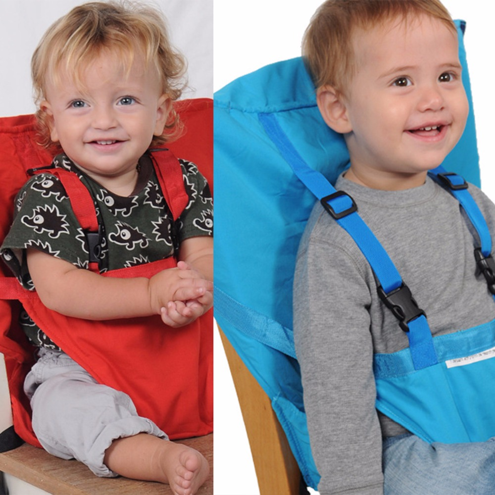 Baby Portable Seat Kids Chair Travel Foldable Washable Infant Dining High Dinning Cover Seat Safety Belt Feeding High Chair in Booster Seats from Mother Kids