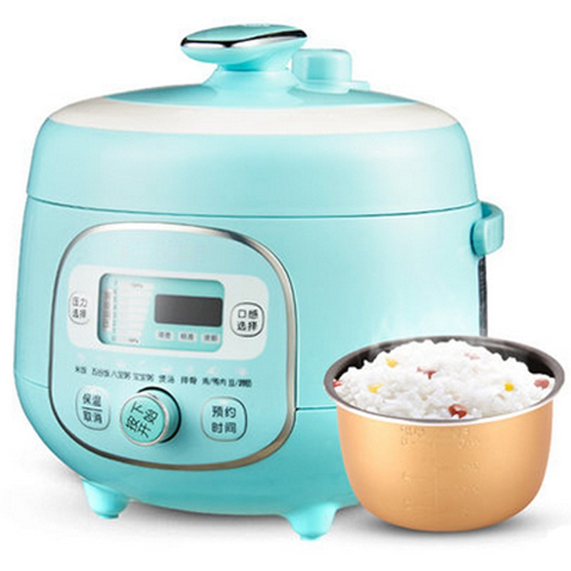 DMWD 2L Electric Pressure Cooker Mini Rice Cooker Multifunction Soup Pot 8 Menu For Stewing/Boiling/Baby Porridge 24H Timing цена