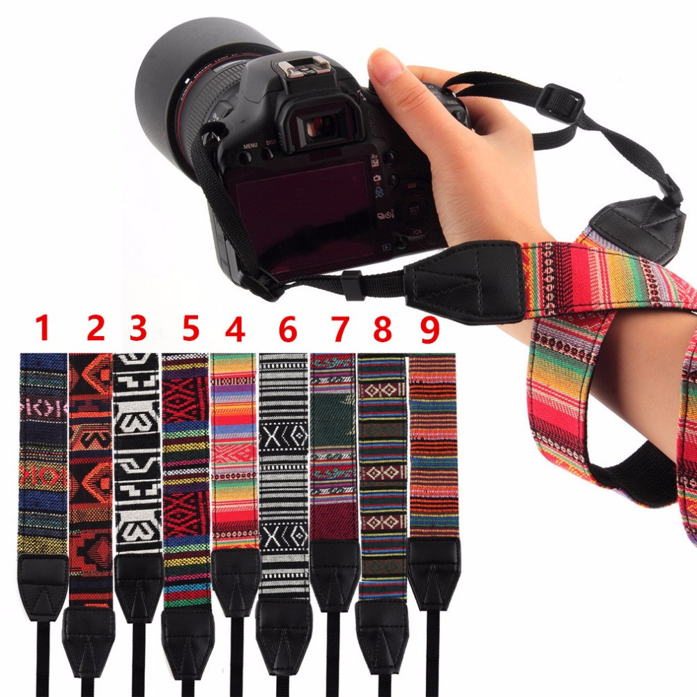 Top Quality Vintage Style Canvas Camera Shoulder Neck Strap Belt for Nikon for Canon for Sony for DSLR Camera