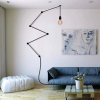Retro Post Modern Vibia DIY Combination Lines E27 Pendant Light For Living Room Bedroom Deco Ac