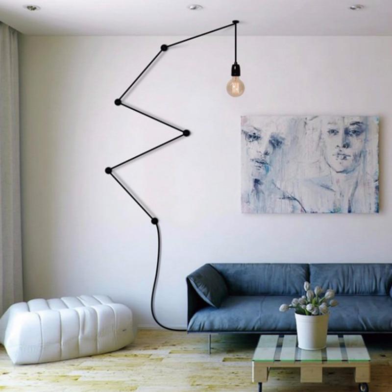 Retro Post-modern DIY Combination  Lines E27 Pendant Light For Living Room Bedroom Deco Ac 80-265v 1427Retro Post-modern DIY Combination  Lines E27 Pendant Light For Living Room Bedroom Deco Ac 80-265v 1427