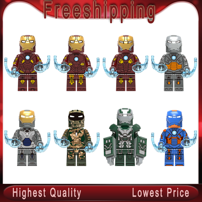 Building Blocks Super Heroes Iron Man Mark9 Mark10 Mark11 Mark12 Mark13 Mark23 Mark26 Mark27 Figures Children Model Toys X0255