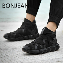 e86a420583e2e Fashion Korean version movement casual Men s sneakers high heel shoes Y3  Street dance Run Shoe tide