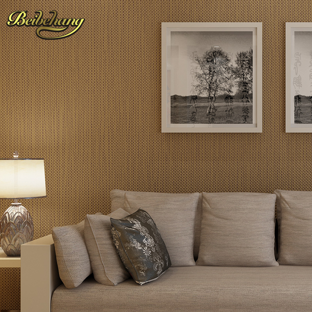 Beibehang Wall Paper. Pune Solid Non Woven Classic Grid Pattern Wallpaper  Backdrop Living Room Part 42