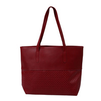 SNNY NEW Knitting Handbags Ladies Party Purse Wedding Clutches Vintage Women High Quality Shoulder Shopping Bags, Wine red