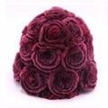 Real Natural Rabbit Fur Knit Warm Caps Women Rose Floral Winter hats 8 colors