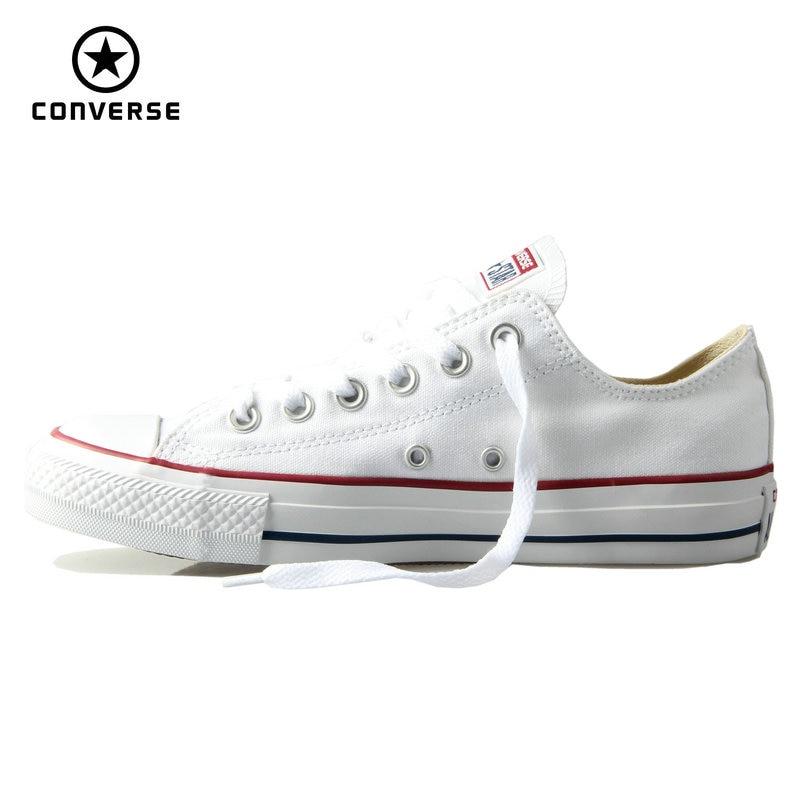 Оригинальные Converse классический все звезды холст обувь мужчин и женщин кроссовки низкие классические Скейтбордингом Обувь 4 цвета