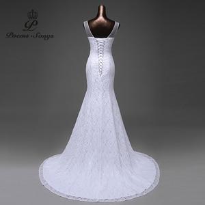 Image 5 - Свадебное платье Русалка, элегантное, красивое, кружевное, с цветами, 2020